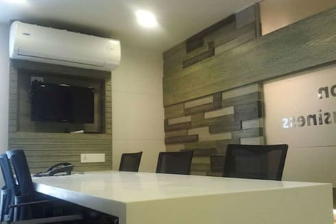 Commercial Office:  Office buildings by Sumer Interiors