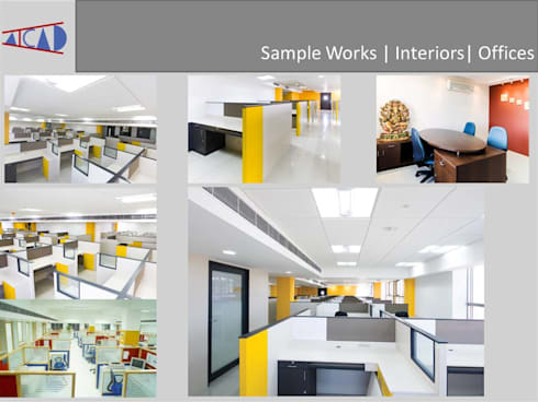 Office Interior Design ( Aicad Studio- Interior Designers and Decorators in Delhi):  Office spaces & stores  by Aicad Studio