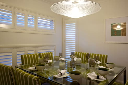 Plantation Shutters—Dining Rooms: colonial Dining room by TWO Australia