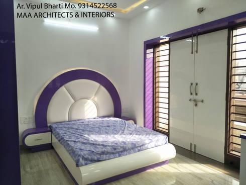 Sunil ji Kalyani : modern Bedroom by MAA ARCHITECTS & INTERIOR DESIGNERS