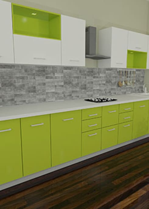 turnkey project modular kitchen interior designers in bangalore by urban living designs homify. Black Bedroom Furniture Sets. Home Design Ideas