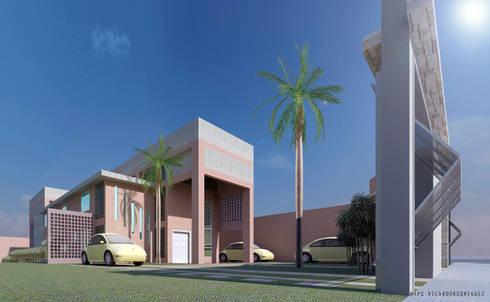 Fachada Frontal:  de estilo  por RR Arquitecto
