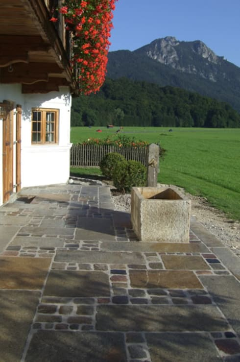 natursteinbrunnen garten, natursteinbrunnen by steiner naturstein | homify, Design ideen
