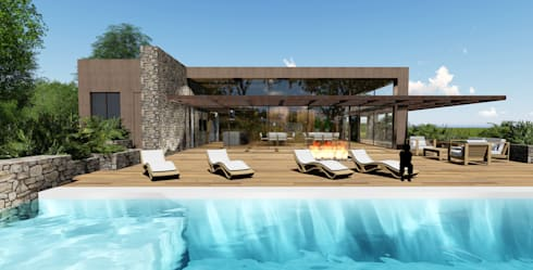 modern Pool by MRAM Studio
