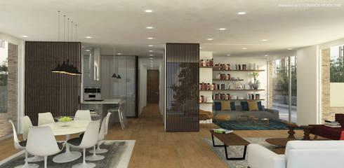 APARTAMENTO VALENBO | Residencial: Cocinas integrales de estilo  por C | C INTERIOR ARCHITECTURE