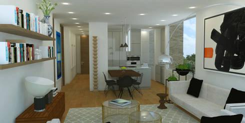 APARTAMENTO VALENBO II | Residencial: Salas de estilo moderno por C | C INTERIOR ARCHITECTURE