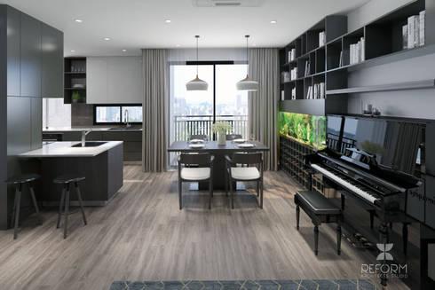 Livingroom:  Phòng khách by Reform Architects
