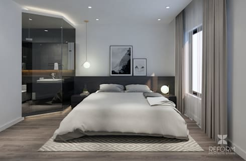 bed room:  Phòng ngủ by Reform Architects