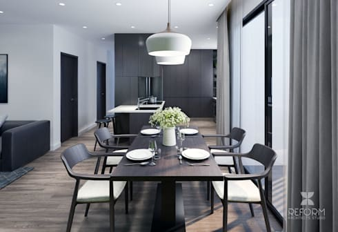Dinning room:  Phòng ăn by Reform Architects