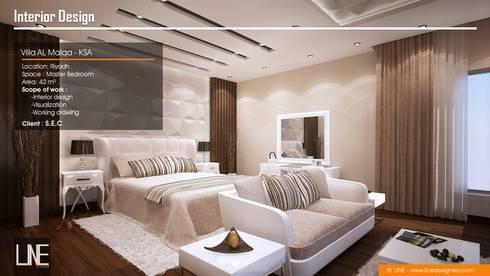 Villa Al Malqa:  غرفة نوم تنفيذ Line Designers
