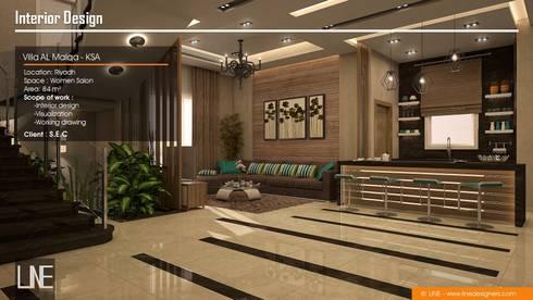 Villa Al Malqa:  غرفة المعيشة تنفيذ Line Designers