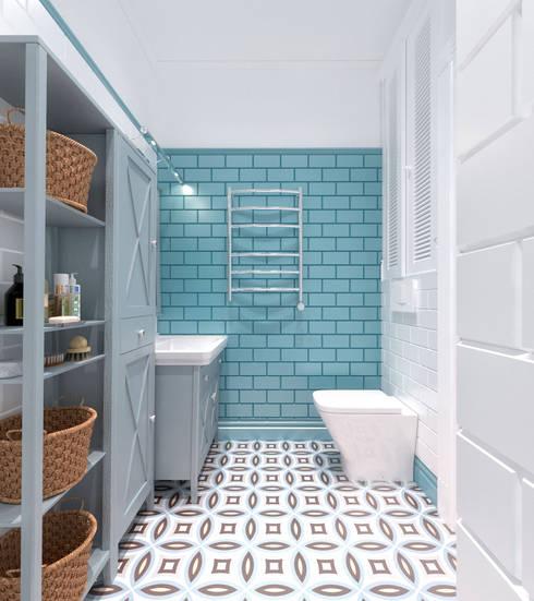Дизайн-проект дома в Староникольское: Ванные комнаты в . Автор – Loft&Home