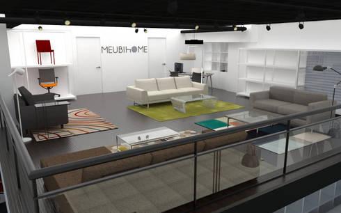 Meubihome: Tienda de Muebles.: Espacios comerciales de estilo  por TRIBU ESTUDIO CREATIVO