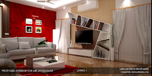 Architecture Firms in Coimbatore: modern Bedroom by Luxen India Architects