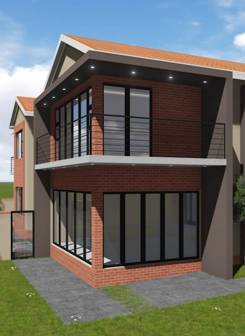 3D north west view:   by JOHAN NAUDE ARCHITECHNOLOGY