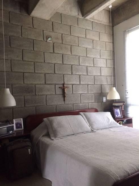 Habitación Principal con baño y vestier: Habitaciones de estilo moderno por CH Proyectos Inmobiliarios