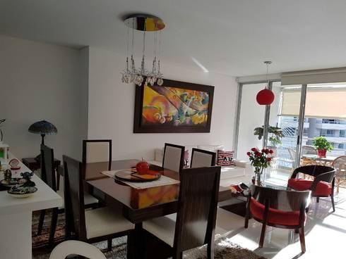 Sala comedor muy iluminada: Salas de estilo moderno por CH Proyectos Inmobiliarios