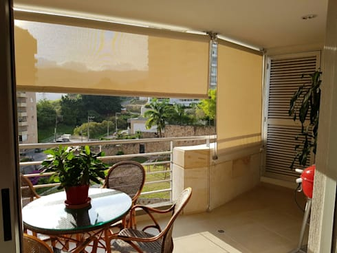 Balcon con hermosa vista.: Terrazas de estilo  por CH Proyectos Inmobiliarios