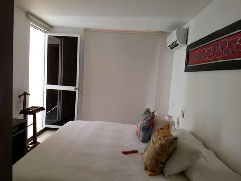 Cómodas habitaciones con salida al balcon: Habitaciones de estilo moderno por CH Proyectos Inmobiliarios