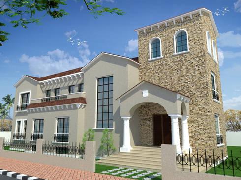 فيلا سكنية في الشروق بالقاهرة :   تنفيذ Quattro designs