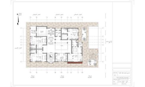 مسقط افقي للطابق العلوي :   تنفيذ Quattro designs