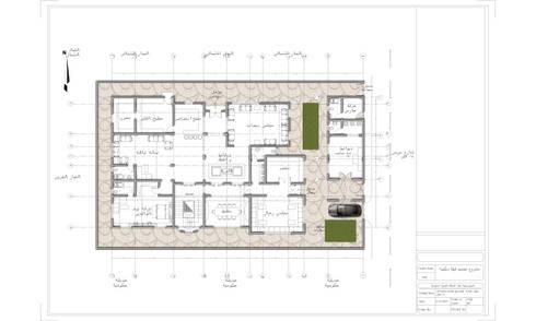 مسقط افقي للطابق الارضي :   تنفيذ Quattro designs