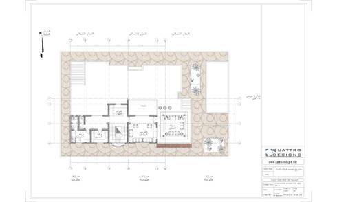 مسقط افقي للسطح :   تنفيذ Quattro designs