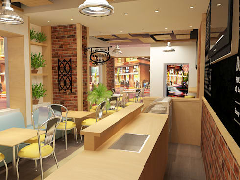 Dolce cafe :  مطاعم تنفيذ Quattro designs