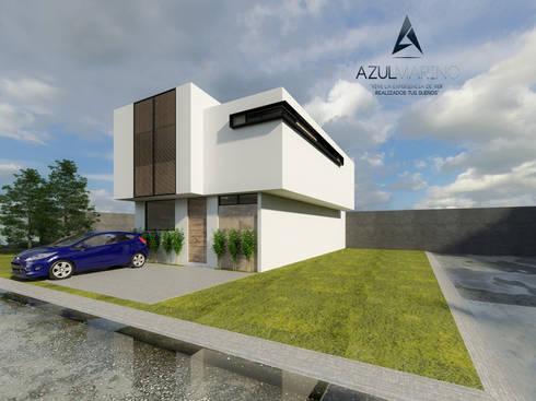 Propuesta Prototipo Especial Cadiz en Esquina Vista 2:  de estilo  por AZUL MARINO ARQUITECTOS