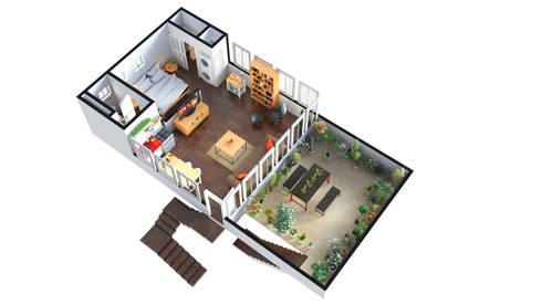 3D FLOOR PLAN WITH HDRI MAP:   by Rayvat Rendering Studio