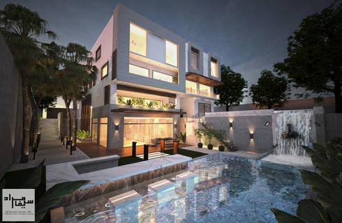 Backyard Facade:  Villas by Saif Mourad Creations - SMC