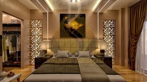 Modern Apartment:  غرفة نوم تنفيذ Smart Design