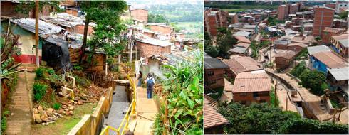Intervención Urbano Integral Comuna Nororiental Medellin:  de estilo  por ARQUITECTOS URBANISTAS A+U