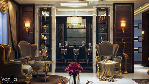 Luxurious Interior New Cairo: classic Dining room by Vanilla Studio