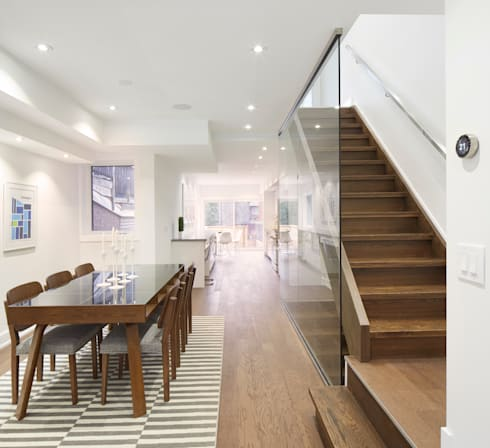 Montrose Ave Project: minimalistic Dining room by Contempo Studio