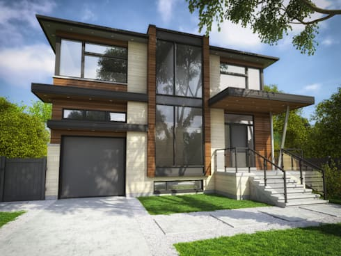 Westrose Ave: modern Houses by Contempo Studio