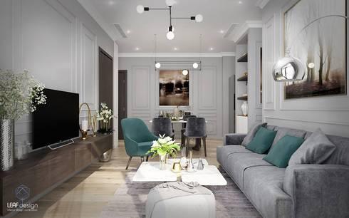MASTERI THẢO ĐIỀN, D2:  Phòng khách by LEAF Design