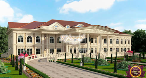 ​Architectural project in the classical style by Katrina Antonovich: classic Houses by Luxury Antonovich Design