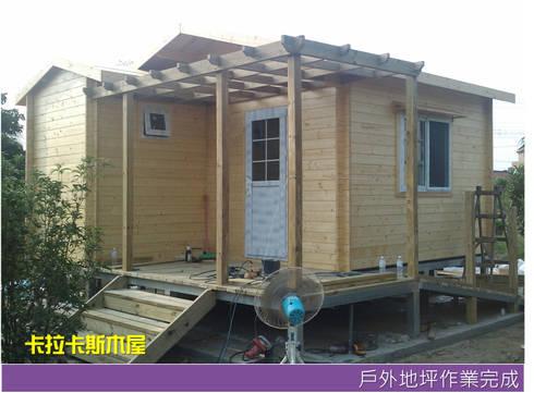 戶外平台作業完成:  木屋 by 金城堡股份有限公司