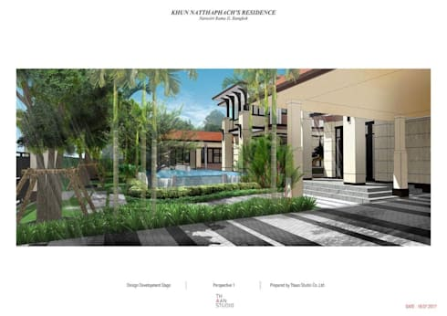 Landscape Design for Narasiri Rama 2:   by Thaan Studio