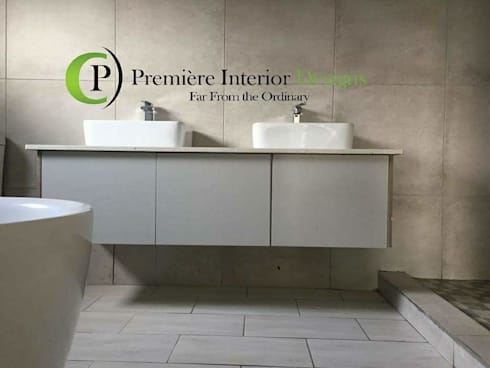 HOUSE MANKGANE: modern Bathroom by Première Interior Designs