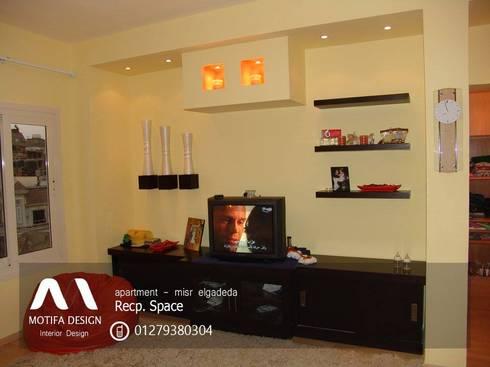ID- apartment – misr elgadeda:  غرفة المعيشة تنفيذ Motif Design