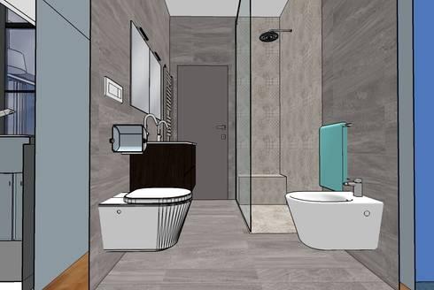 Bagno con doccia filo pavimento di interno 75 homify - Pavimento bagno moderno ...