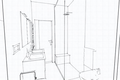 Bagno con doccia filo pavimento di INTERNO 75 | homify