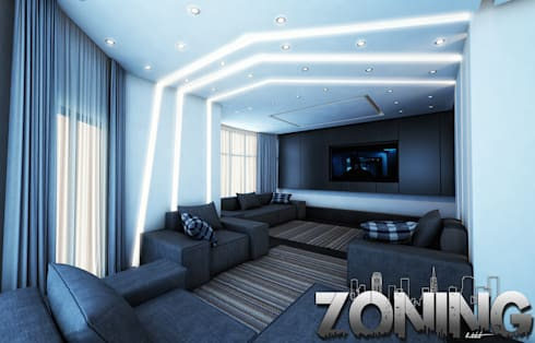 modern Living room by Zoning Architects