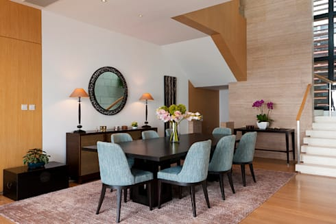 Dining Room overview: modern Dining room by Nicole Cromwell Interior Design