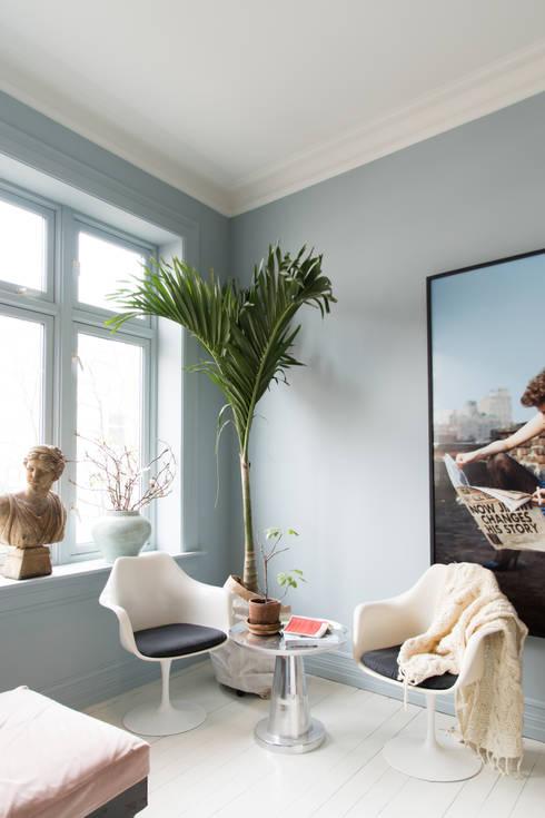 Keuken in Classico krijtverf Polar Blue: moderne Keuken door Pure & Original