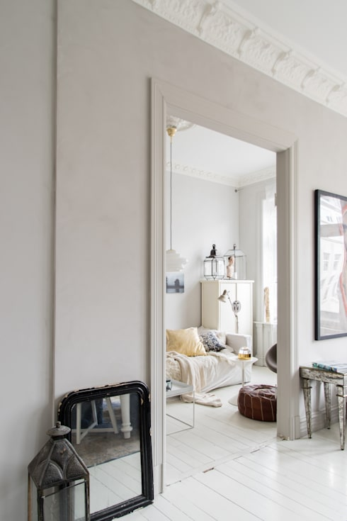 Licht appartement met oude elementen door pure original homify - Kleur appartement ...