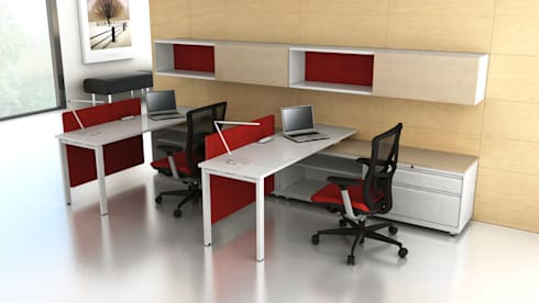 Office Furniture Rendering USA, UK & Canada:  Office spaces & stores  by TrueCADD