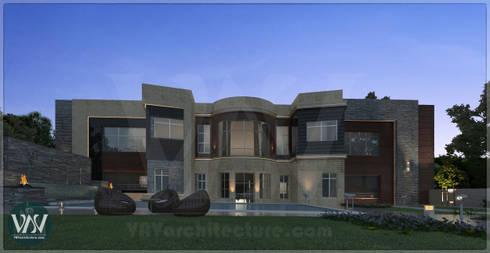 Villa exterior design:  Garden  by VAVarchitecture